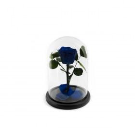 Παντοτινό Τριαντάφυλλο Αποχυμωμένο Σε Γυάλα Ocean Blue Forever Rose