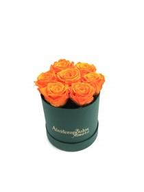 Παντοτινά Τριαντάφυλλα Αποχυμωμένα Orange Flame Forever Rose