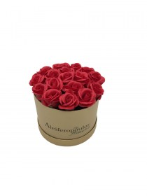 Παντοτινά Τριαντάφυλλα Από Σαπούνι Soap Flowers Red