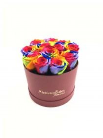 Παντοτινά Τριαντάφυλλα Αποχυμωμένα Rainbow Forever Rose
