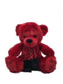 Μεσαίο Αρκουδάκι Λούτρινο Κόκκινο