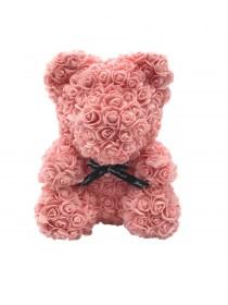 Μεγάλο Αρκουδάκι Από Τεχνητά Τριαντάφυλλα Rose Bear Σομόν