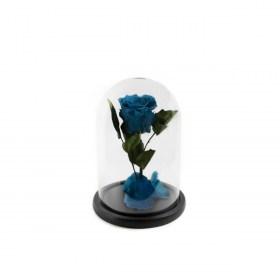Παντοτινό Τριαντάφυλλο Αποχυμωμένο Σε Γυάλα Aquamarine Forever Rose