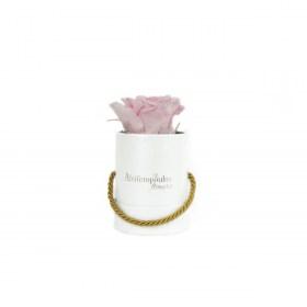 Αποχυμωμένο Παντοτινό Ροζ Τριαντάφυλλο Σε Πολυτελές Λευκό Κουτί Forever Rose