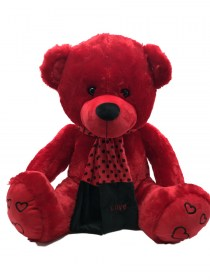 Μεγάλο Αρκουδάκι Λούτρινο Κόκκινο