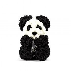 Αρκουδάκι Από Τεχνητά Τριαντάφυλλα Rose Bear Panda